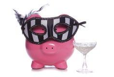 Saving for Masquerade party Stock Photography