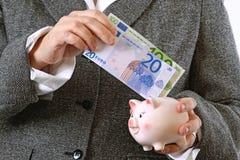 Saving money Royalty Free Stock Images