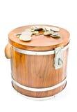 Saving Money. Wooden Saving Money at home Royalty Free Stock Image