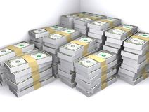 Saving Money. There are a lot of money saved in a some place Royalty Free Stock Photos