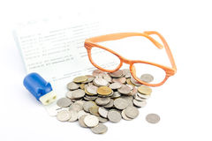 Saving money,Account assbook and bluy pig bank Stock Photo