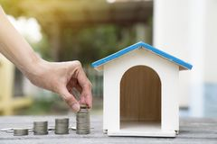 Saving money and budget to buy own house Royalty Free Stock Image