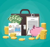 Saving money. Business, finance nvestment concept Stock Photography