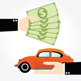Saving money car Stock Images