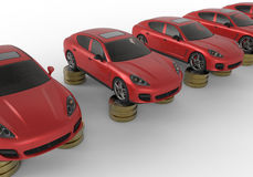 Saving money for cars concept Royalty Free Stock Photos