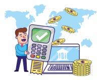 Saving money cartoon vector illustration