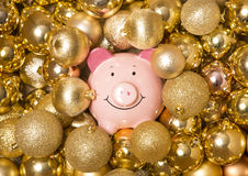 Saving money at christmas Stock Photo