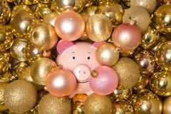 Saving money at christmas Stock Photos