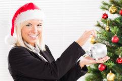 Saving money for christmas Royalty Free Stock Image