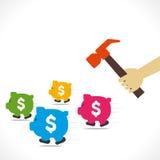Saving money concept  Royalty Free Stock Photos