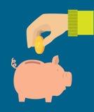 Saving money design Stock Image