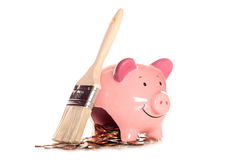 Saving money by DIY decorating. Cutout Stock Photo