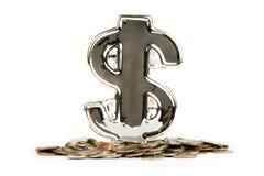 Saving Money. Money Dollar symbol saving and banking concept Stock Photo