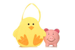 Saving money at easter Stock Images