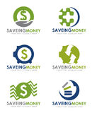 Saving money economical logo vector set design Stock Photography