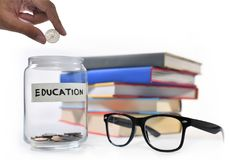 Saving money for education. Image on concept of saving money for education Stock Photography