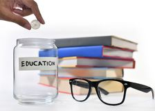 Saving money for education. Image on concept of saving money for education Stock Image