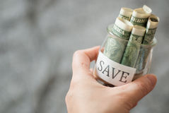 Saving money Royalty Free Stock Images