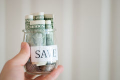 Saving money Royalty Free Stock Photos
