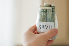 Saving money Royalty Free Stock Photography