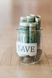 Saving money Royalty Free Stock Image