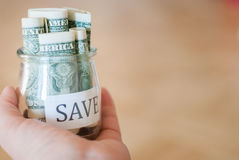 Saving money Stock Photos
