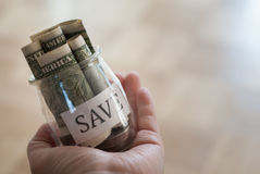 Saving money Stock Photography
