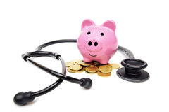 Saving money for healthcare Royalty Free Stock Photos