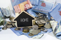 Saving Money for Home Stock Image
