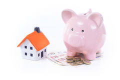 Saving money for home or rent concept Royalty Free Stock Images