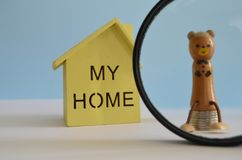 Saving money for a home. royalty free stock images