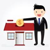 Saving money house Stock Photos