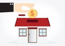 Saving money house Royalty Free Stock Image