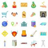 Saving money icons set, cartoon style. Saving money icons set. Cartoon set of 25 saving money vector icons for web isolated on white background Stock Photos