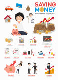 Saving money infographics vector Royalty Free Stock Photo