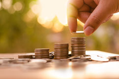 Saving money and investor insurance concept Royalty Free Stock Photo