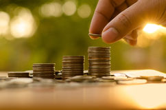 Saving money and investor insurance concept Stock Photos