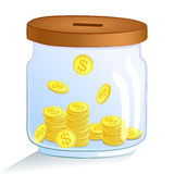 Saving money jar. Vector illustration Stock Images