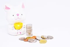 Saving money a little bit discipline in money management. royalty free stock images