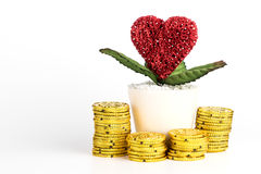 Saving Money for Love and Marriage concept Royalty Free Stock Images