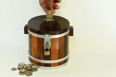 Saving. Money with piggy bank Royalty Free Stock Photo