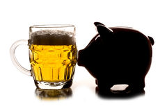 Saving money for a pint of beer Stock Photo
