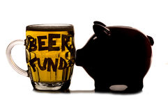 Saving money for a pint of beer Royalty Free Stock Photo