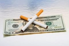 Saving Money by Quitting Smoking Royalty Free Stock Photography