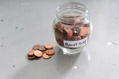 Saving money for a rainy day Royalty Free Stock Photo