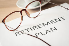 Saving money for retirement plan Stock Photos