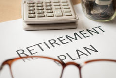 Saving money for retirement plan Stock Photography