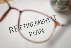 Saving money for retirement plan Royalty Free Stock Photos