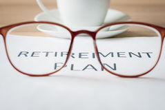 Saving money for retirement plan Royalty Free Stock Photo