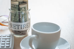 Saving money for retirement plan Royalty Free Stock Image